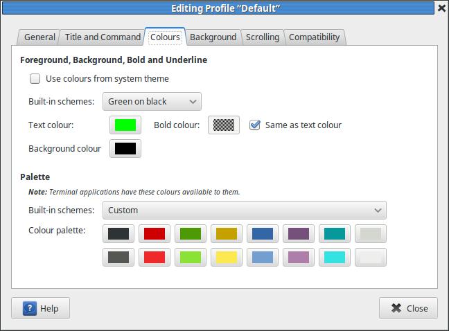 terminal-profile-colours